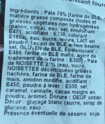 Croissant Fourre - Ingredients