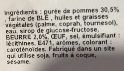Chaussons aux Pommes - Ingredients - fr