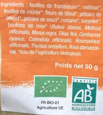 Tisane Remede Elfique - Sachet 50 G - Les Jardins De Gaïa - Ingredients - en