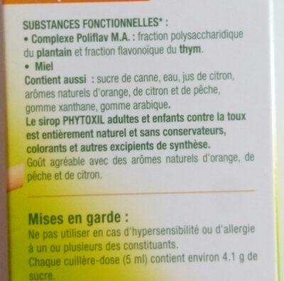 Phytoxil - Ingrédients