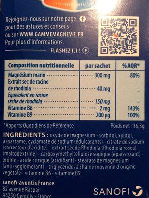 Magnévie Stress Resist - Informations nutritionnelles - fr