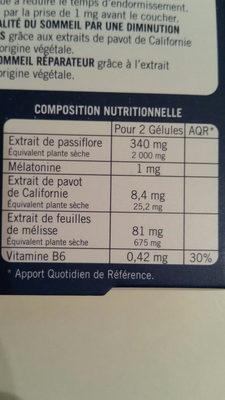 novanuit - Informations nutritionnelles - fr