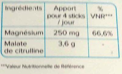 Récupération MC3 arôme Cranberry - Nutrition facts