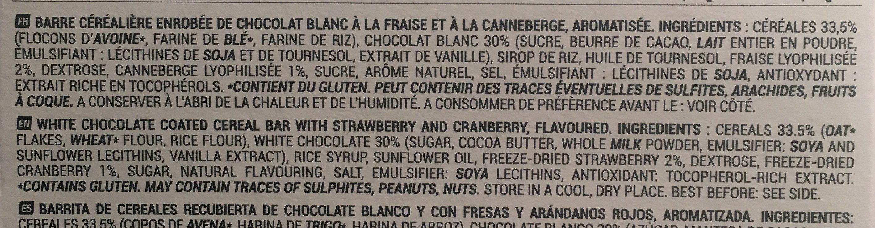 Choco cereal bar - Ingrediënten