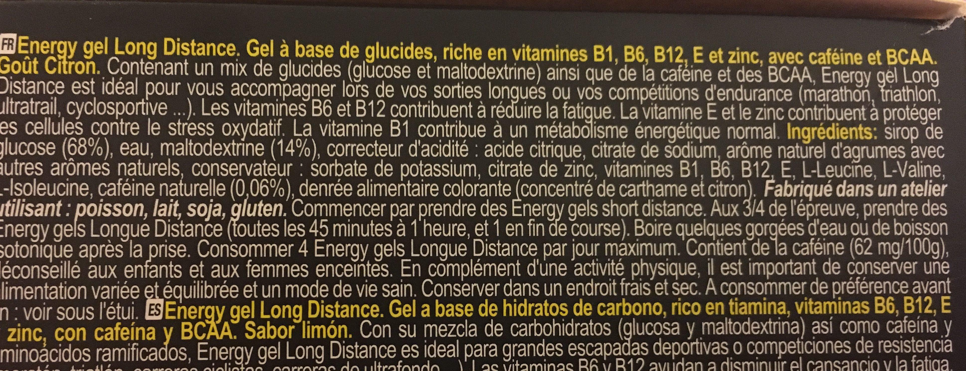 Energy gel - Ingrédients - fr