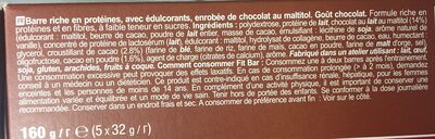 Fit Bar, Chocolate Flavour - Ingrédients