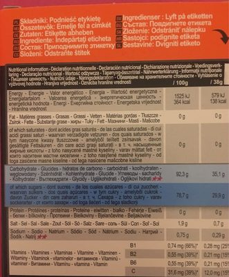 Iso - Nutrition facts