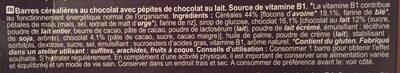 Cereal bars - Ingredients