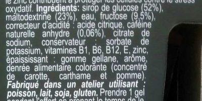 Ultra Gel 500 Goût Melon - Ingrédients - fr