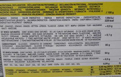 Ultra Fruit Jellies - Informations nutritionnelles - fr