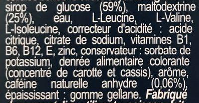 Ultra Gel 700 Cerise - Ingrédients - fr