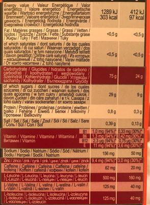 Ultra Gel 700 Cerise - Informations nutritionnelles - fr