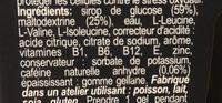 Ultra Gel 700 gout citron - Ingrédients - fr