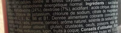 Isotonic Sport Drink Fraise-CeriseBoisson Isotonique à Reconstituer ISO+ FRAISE-CERISE - Ingrédients