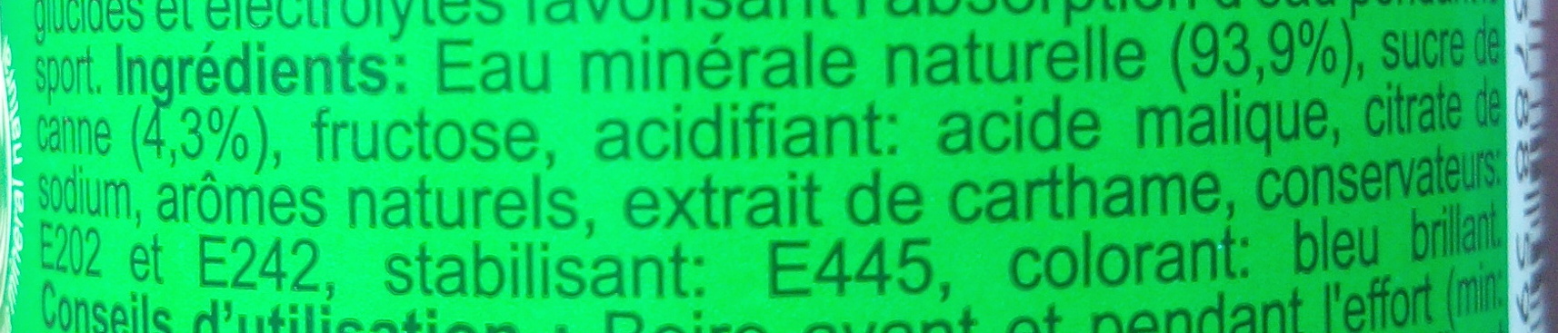 Sport Drink flavour apple kiwi - Ingrédients - fr