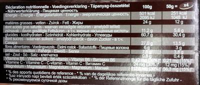 Choco cereals - Voedingswaarden - fr