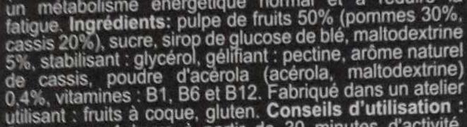 Ultra fruit jellies - Cassis Acelora Pomme - Ingredienti - fr