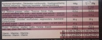 Ultra fruit jellies - Cassis Acelora Pomme - Valori nutrizionali - fr
