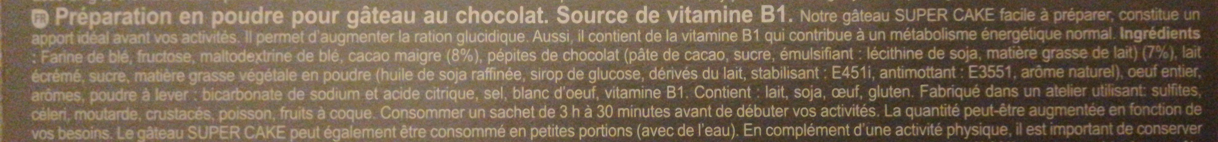Super cake - Ingrédients