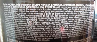 CW Casein  & Whey Protein - Ingrédients