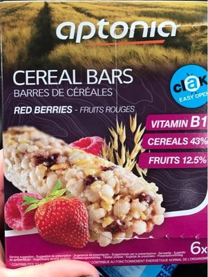Cereal bars red berries - Produit - fr