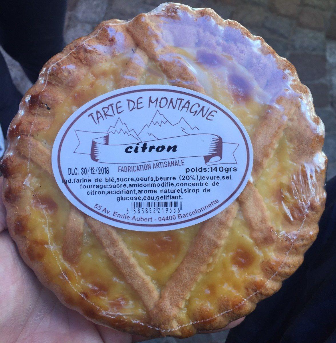 Tarte de Montagne Citron - Product - fr