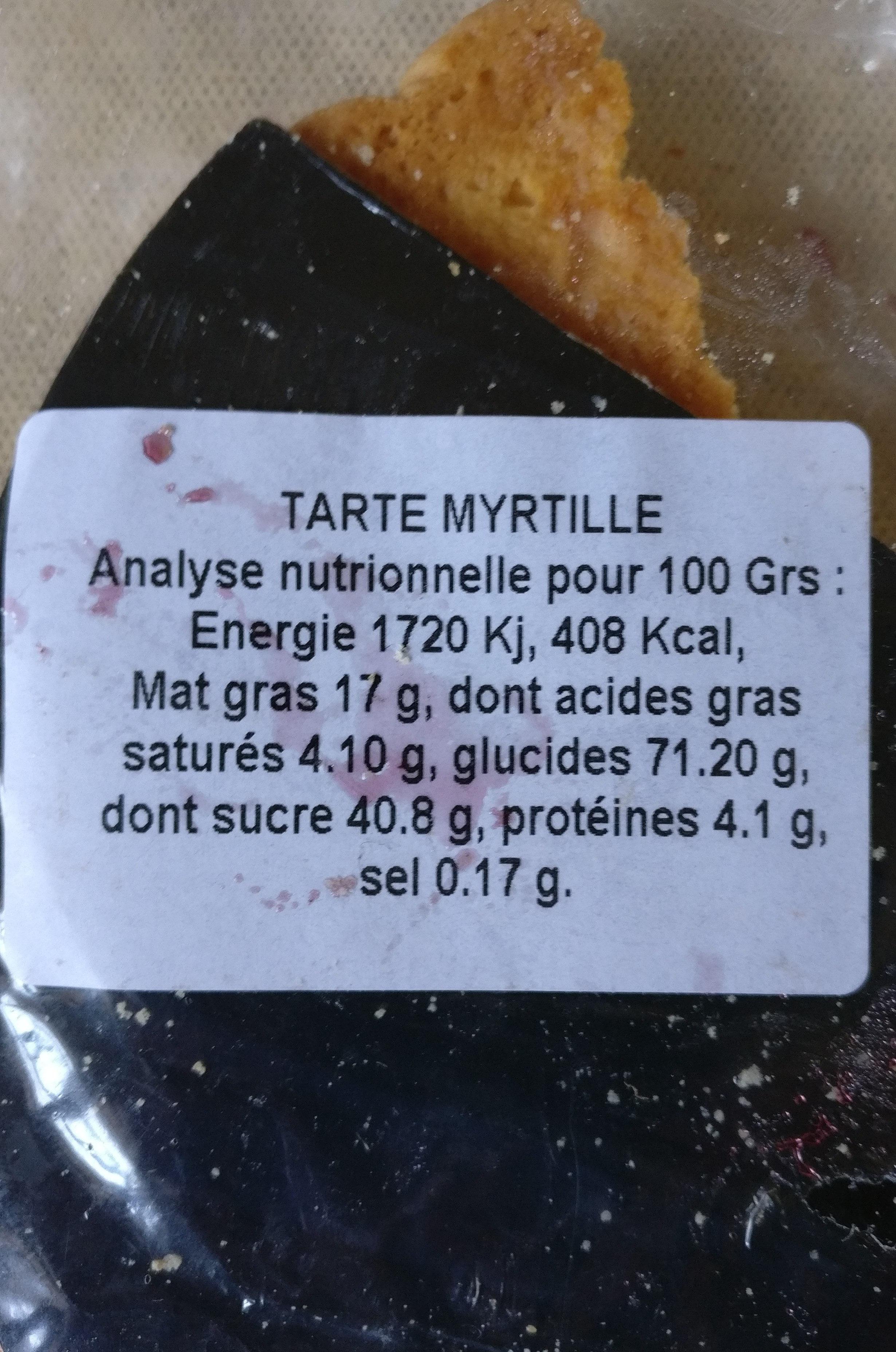 Tarte de Montagne Citron - Nutrition facts - fr