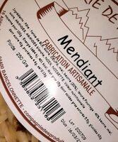 Tarte de montagne mendiant - Nutrition facts - fr