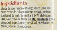 Sauté de porc à la moutarde - Ingredients