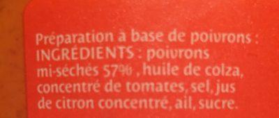 Tapena de Poivrons confits - Ingrédients - fr