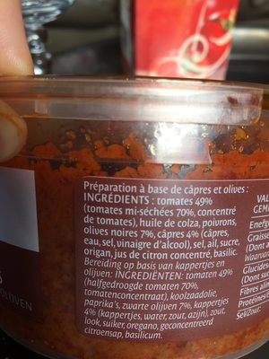 Tomatade câpres et olives - Ingrediënten