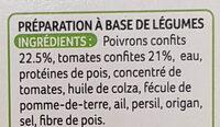 Galettes Poivrons et tomates confits - Ingrediënten - fr