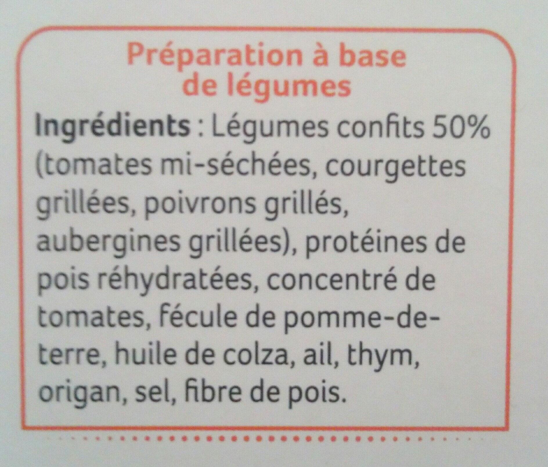 galettes de légumes - Ingredients