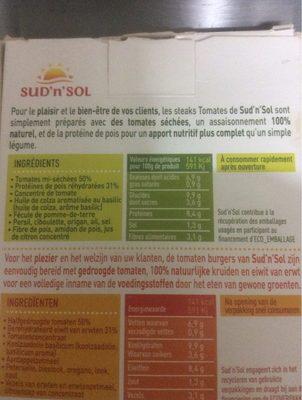 Steaks de tomates - Informations nutritionnelles - fr