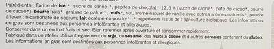 Sablés pepites de chocolat - Ingrédients - fr