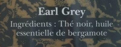 Earl Grey - Ingrédients