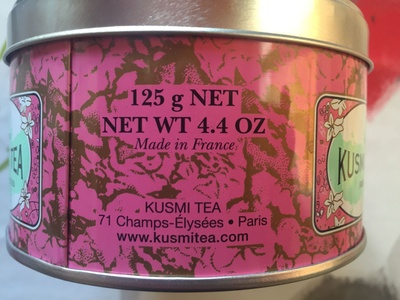 Thé vert à la rose - Voedigswaarden