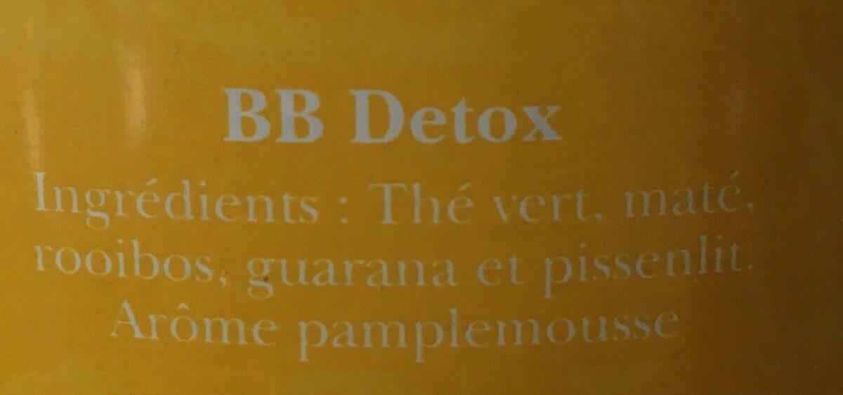Thé - BB Detox, thé vert, maté et pamplemousse - Ingrédients