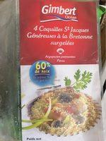 4 Coquilles Saint-Jacques Généreuses à la Bretonne Surgelées - Produit