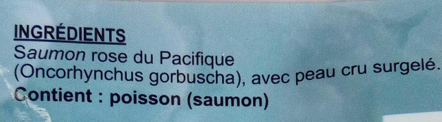 Pavé de saumon rose du Pacifique - Ingrédients - fr
