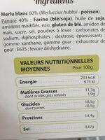 Tempura merlu blanc - Informazioni nutrizionali - fr
