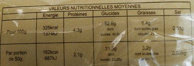 Délice de Soja - Nutrition facts
