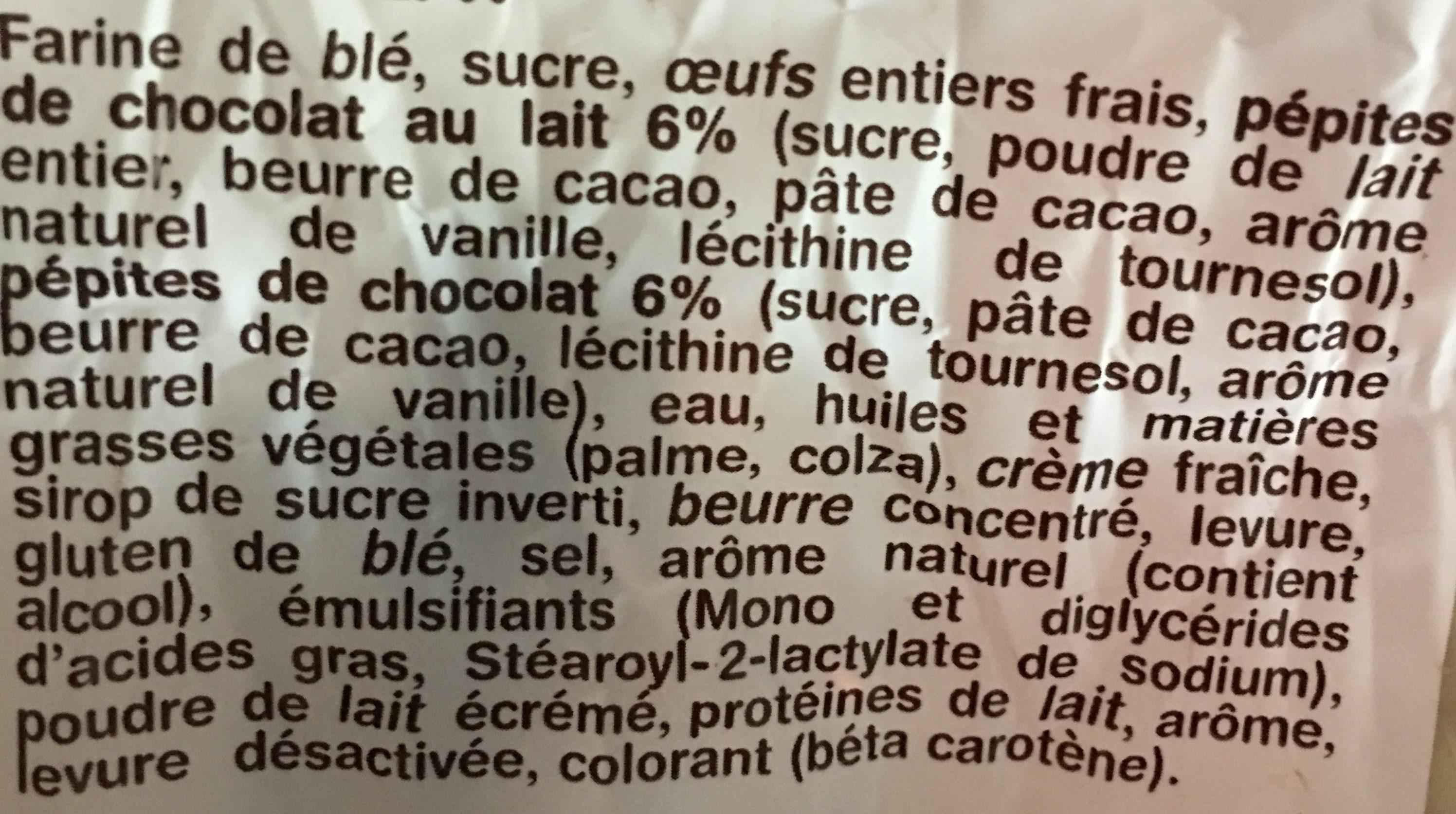 La gâche tranchée aux pepites de chocolat - Ingrediënten - fr