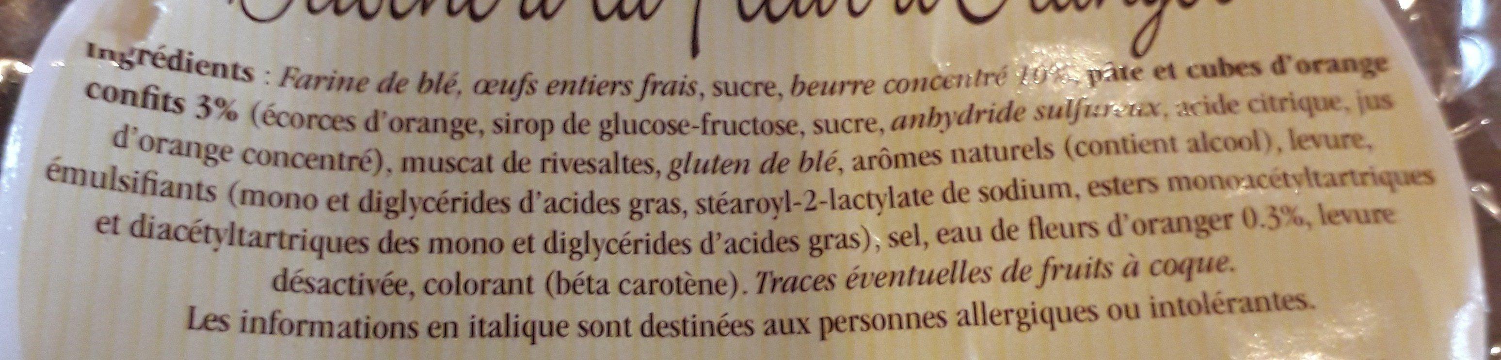 La Pogne De Romans Brioche à La Fleur D'oranger - Ingrediënten - fr