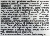 Le Saint-Génix - Ingredients