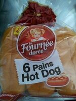 6 pains hot dog - Produit - fr