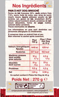 6 pains hot dog - Informations nutritionnelles - fr