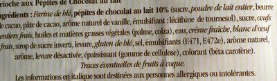 Brioche Tressée aux Pépites de Chocolat au Lait - Ingrediënten