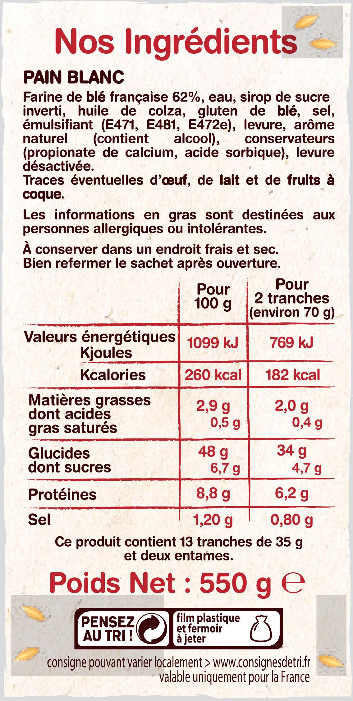 Pain Blanc Italien - Ingrediënten - fr