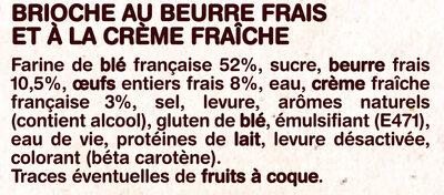 La Gâche Tranchée au Beurre Frais et à la Crème Fraîche - Zutaten - fr